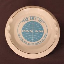 Image of Pan Am's 747 Ashtray - ca. 1970