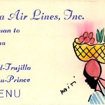 Image of Delta San Juan to Havana Menu - ca. 1958