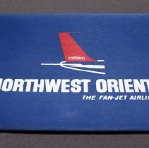 Image of Northwest Orient The Fan-Jet Airline Amenity Kit Pouch - ca. 1963-1969