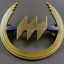Image of Hughes Airwest Pilot Uniform Hat Badge - ca.1975-1980