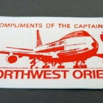Image of Northwest Orient Boeing 747 Kiddie Wings Card