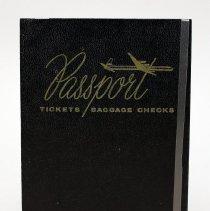 Image of Delta Passport/Tickets/Bag Checks Holder - mid-1950s