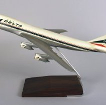 Image of Delta Boeing 747-132, N9896, Ship 101 Model Airplane - ca. 1970