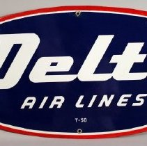 Image of Delta Flying D Logo Sign - ca. 1955-1962