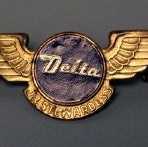 Image of Delta Jr. Stewardess Kiddie Wings - 1958