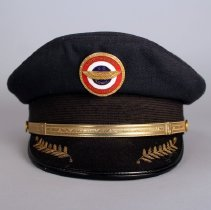 Image of Northwest Airlines Pilot Uniform Hat and Hat Badge
