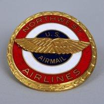 Image of Northwest Airlines Pilot Uniform Hat Badge