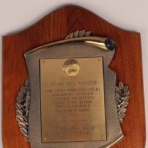 Image of Plaque, Presented to Capt. Jack Daughtry as Chairman of Southern Airways MEC - 1980-1980