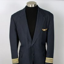 Image of Northwest Airlines Captain's Uniform Jacket, Pants, and Insignia