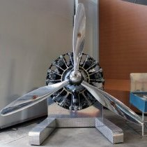 Image of Douglas DC-3 Engine and Propeller - ca. 1940-1960
