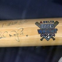 Image of Delta Air Lines Jeter/Wright Batting Challenge photos and bat, 2009 - 2009