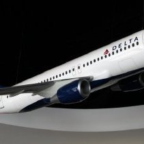Image of Delta Airbus A320, Model Airplane