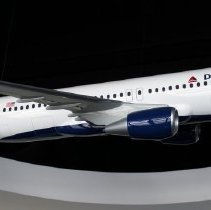 Image of Delta Airbus A320 Model Airplane - ca. 2014