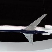 Image of Delta McDonnell Douglas MD-90 Model Airplane - ca. 2014