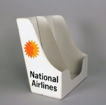 Image of National Airlines Timetable or Brochure Holder - 1970s