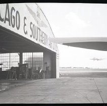 Image of Chicago and Southern Air Lines Hangar, Side View - ca. 1946-1953