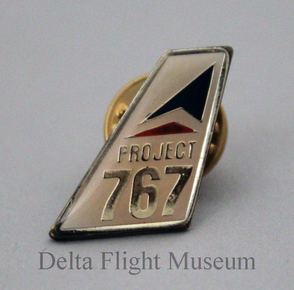 Delta Project 767 Lapel Pin - 1982