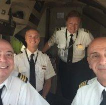 Image of Final Flight of 744 Ship 6301: Flight Deck Selfie - 09/05/2015