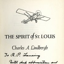 Image of The Spirit of St. Louis, signed
