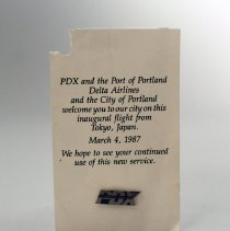 Image of PDX Lapel Pin - 03/04/1987