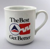 Image of Delta-Western Airlines The Best Get Better Mug - 1987