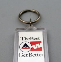 Image of Delta-Western Airlines The Best Get Better Key Ring - 1987
