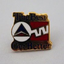 Image of Delta-Western Airlines The Best Get Better Lapel Pin - 1987