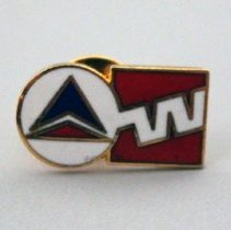 Image of Delta-Western Airlines Merger Lapel Pin - 1987