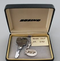 Image of Delta Boeing 757 Ship 626 Delivery Ceremonial Key - 05/1987