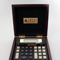 Image of Delta We Love To Fly And It Shows Desk Calculator - ca. 1987-1993