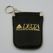 Image of Delta We Love To Fly And It Shows Key Ring and Coin Pouch - ca. 1987-1993