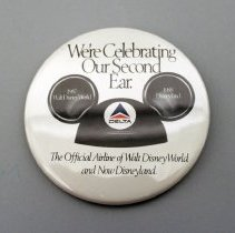 Image of We're Celebrating Our Second Ear Button - 1988
