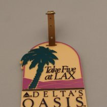 Image of Take Five at LAX Delta's Oasis Bag Tag - 1988