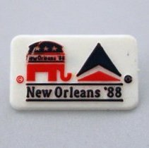 Image of Delta The Official Airline of the Republican National Convention Pin - 1988