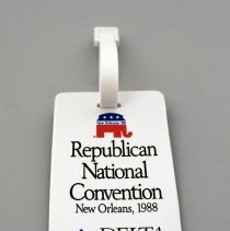 Image of Delta The Official Airline of the Republican National Convention Bag Tag - 1988