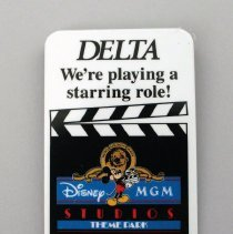 Image of Delta Disney-MGM Studios Promotional Pin - 05/1989