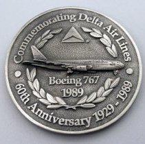 Image of Delta 60th Anniversary Inaugural Medallion - 1989