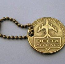 Image of Delta 30th Anniversary Keychain