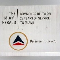 Image of Delta 25 Years to Miami Commemorative