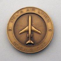 Image of Delta Boeing 727 Medallion - ca. 1973