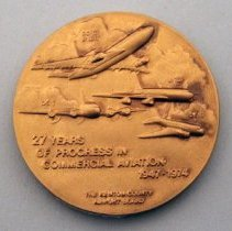 Image of CVG Terminal Dedication Medallion - 09/15/1974