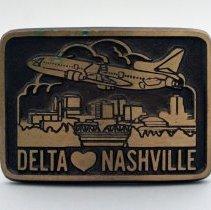 Image of Delta [Heart] Nashville Belt Buckle - ca. 1973-1979