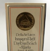 Image of Delta Daytona Beach Inaugural Plaque - 09/08/1979