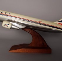 Image of Delta Boeing 737 Model Airplane - ca. 1983