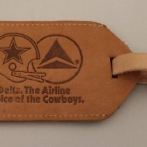 Image of Delta The Airline Choice of the Cowboys Bag Tag - 1982