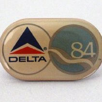 Image of Delta Official Airline of the 1984 World's Fair Pin - 1984