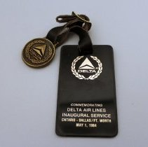 Image of Whit Hawkins' Ontario-DFW Inaugural Bag Tag - 05/01/1984