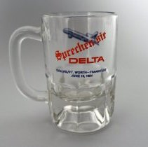 Image of Delta DFW-FRA Inaugural Stein - 06/15/1984