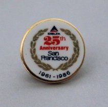 Image of Delta San Francisco 25th Anniversary Pin - 10/13/1986