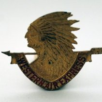 Image of Western Air Express Pilot Uniform Hat Badge - ca. early-mid 1930s